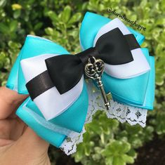 Alice Bow with Alligator Clip by DumbowShoppe on Etsy $15