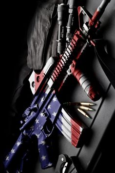 Airsoft hub is a social network that connects people with a passion for airsoft. Talk about the latest airsoft guns, tactical gear or simply share with others on this network Weapons Guns, Guns And Ammo, American Flag Wallpaper, M16, Patriotic Pictures, Gun Art, Custom Guns, Cool Guns, Awesome Guns