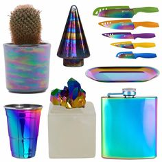 "36 Rainbow ""Oil Slick"" Gift Ideas For the Trendy Decorator in Your Life"