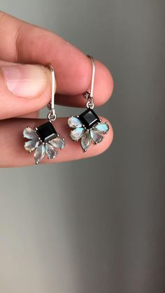 blush gemstone earrings Rose Quartz Smooth Small Teardrop Dangles leverback lever back earring option