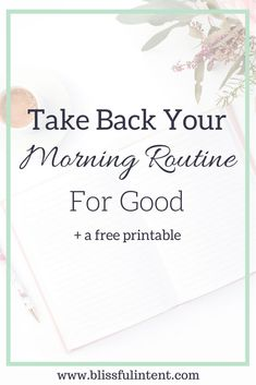 Does your morning routine suck? Are you stressed and running out of the door without half of your things? Click here to read about taking your morning routine back for good. @blissful_intent