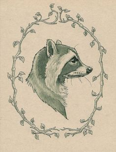 Yes! A balance of realistic and artistic. Not kiddy stuff, love this raccoon portrait!
