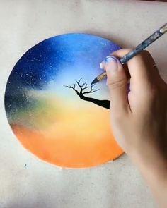 Great art by ID: (Döuyin App) art artvideos painting sketch drawing realisticart Watercolor Paintings, Painting Art, Painting Canvas Crafts, Learn Painting, Moon Painting, Painting Videos, Art Paintings, Acrylic Art, Art Techniques