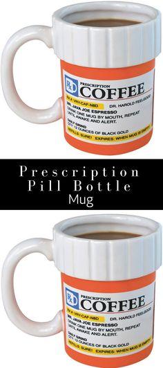 108451fe983 Prescription Mug Pill Bottle Coffee Cup Tea Pharmacy 12oz Rx Big Mouth Toys  Gift - Walmart.com. Pill BottlesPharmacyCoffee CupsCoffee MugsCoffeecup
