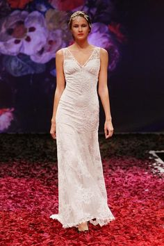 Iris - Wedding Dress by Claire Pettibone runway full