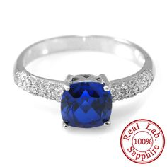 2.32ct Blue Sapphire Ring Pure Solid 925 Sterling Silver Only $29.99 => Save up to 60% and Free Shipping => Order Now! #Bracelets #Mystic Topaz #Earrings #Clip Earrings #Emerald #Necklaces #Rings #Stud Earrings