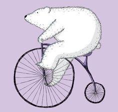 art, bear, bicycle, cute, draw, illustration, tumblr