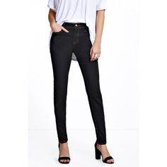 Boohoo Blue Jenna Mid Rise Stitch Detail Skinny Jeans ($26) ❤ liked on Polyvore featuring jeans, black, black skinny jeans, slim straight jeans, ripped skinny jeans, denim skinny jeans and distressed skinny jeans