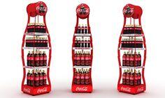 Coke Metal Bottle Display