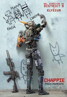 """El próximo viernes 13 de marzo se estrena en las carteleras españolas """"Chappie"""", la última película de Neill Blomkamp (responsable de """"Distrito 9"""" y """"Elysium""""), protagonizada por Hugh Jackman, Sigourney Weaver, Dev Patel, y Sharlto Copley encarnando al robot... http://tavernamasti.blogspot.com.es/2015/03/chappie-una-pelicula-de-neill-blomkamp.html"""