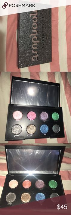 URBAN DECAY MOONDUST PALLETTE Urban Decays Moondust Pallette Swatched Only Never Used , Great Condition ; Still Has The Plastic Mirror Cover On It ! Urban Decay Makeup Eyeshadow