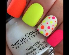 Yellow pink and orange with pola dots