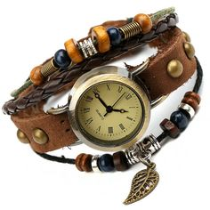 NEW Hot Sale Women Girls Fashion Long Genuine Leather Strap Bracelet Watch Vintage Punk Style Quartz Analog Casual Wristwatch-in Women's Watches from Watches on Aliexpress.com | Alibaba Group