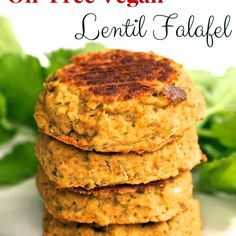 Oil-Free Vegan Lentil Falafel Recipe Main Dishes with red lentils, water, garlic cloves, carrots, white onion, fresh parsley, ground cumin, ground coriander, oregano, sea salt, smoked paprika, nut flour, flax seed meal, lemon juice, freshly ground pepper