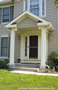 Enjoyable Front Door Portico Designs Portico Extra Wide Front Door Largest Home Design Picture Inspirations Pitcheantrous