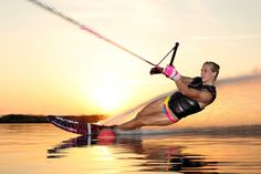 Whitney McClintock, makes the best of this glass session at the OC Waterski Club in Orlando, Florida. Photo: Thomas Gustafson