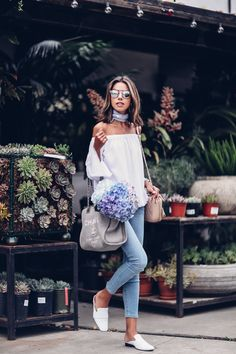 125 Catchiest Scarf Trends for Women in 2017 - Fazhion Street Style Outfits, Looks Street Style, Popular Outfits, Trendy Outfits, Spring Summer Fashion, Spring Outfits, Look Fashion, Womens Fashion, Fashion Trends