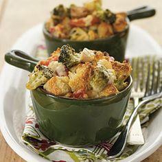 Leftover turkey or a rotisserie chicken broccoli cobbler. Dinner party idea: serve in individual ramekins