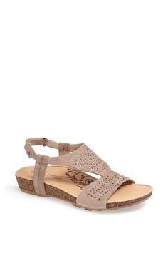 Women's Aetrex 'Melanie' Leather Sandal