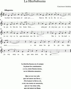 La Hierbabuena. Cancionero Andaluz