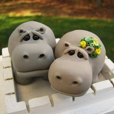 Hippo cake toppers, from Etsy.