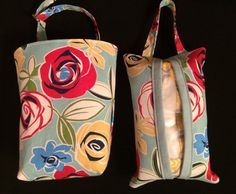 Car auto trash bag and hanging tissue set by thecraftiestcoop