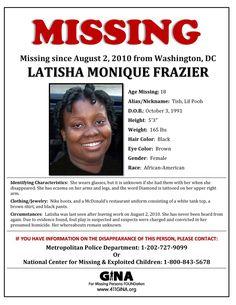 Find Missing Latisha Monique Frazier!