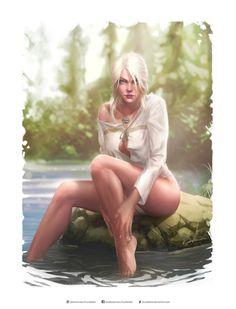 Cirilla – The Witcher 3 fan art by Krystopher Decker
