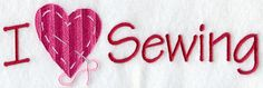 Embroidery Pattern of I Love Sewing design (A6893) from www.Emblibrary.com. jwt