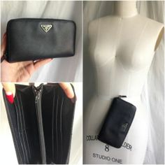 collection created by closetcathartic @eBay PRADA SAFFIANO BLACK ZIP AROUND WALLET Buy It Now! WWW.CLOSETCATHARTIC.COM
