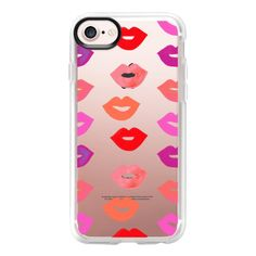 Lovely Lips - iPhone 7 Case And Cover ($40) ❤ liked on Polyvore featuring accessories, tech accessories, iphone case, apple iphone case, iphone cases, clear iphone case and iphone cover case
