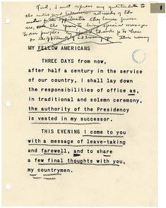 President Dwight D. Eisenhower's Farewell Address (1961)