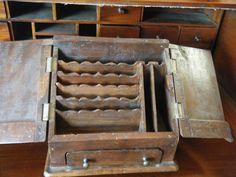 OLD Wooden Desk Organizer | eBay