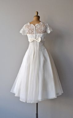 Thing of Beauty wedding dress silk 1950s wedding by DearGolden