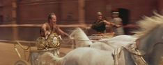 A moment from the memorable chariot race