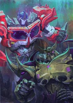 Optimus prime and Galvatron and boy! Don't they look amazing!