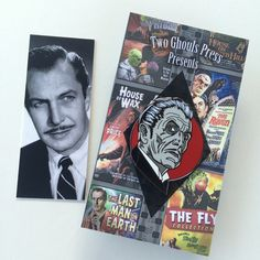 Vincent Price enamel pin lapel pin flair two ghouls press