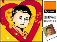 Illustrationen - Pop Art - Geschenk mit Herz - ein Designerstück von bg-color bei DaWanda