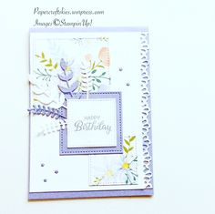 Stampin'Up! Beautiful Bouquet meets Daisy dsp love the wistia wonder with this pattern