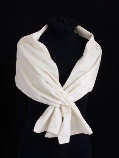 etole mariage crue tissu motifs echarpe foulard cravate par faith - Etole Beige Mariage