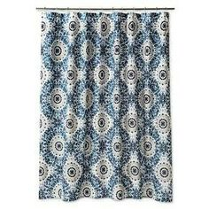 Image Of AnthologyTM Bungalow Shower Curtain In Teal