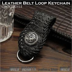 Choose the concho that suits your style best!   Crocodile Skin Leather Beltloop Keychain Keyholder Sterling Silver 925 Concho WILD HEARTS Leather&Silver (ID bk3450r62)  http://global.rakuten.com/en/store/auc-wildhearts/item/bk3450r62/
