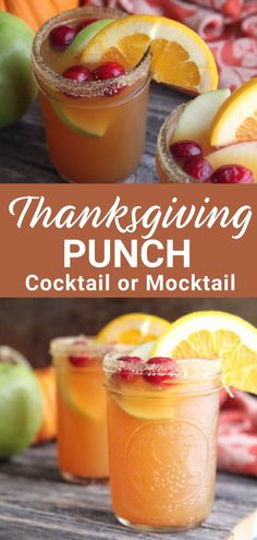 Thanksgiving Punch, Thanksgiving Cocktails, Thanksgiving Side Dishes, Thanksgiving Recipes, Holiday Recipes, Holiday Drinks, Thanksgiving Appetizers, Christmas Drinks, Kid Cocktails Non Alcoholic