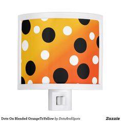 Dots On Blended OrangeToYellow Nite Lites