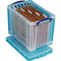 Really Useful Box Stapelbare Aufbewahrungsbox 19l 395x255x290mm Transparent