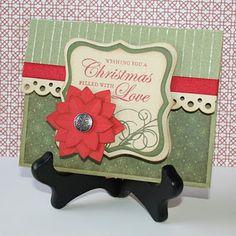 Poinsetta Christmas Card