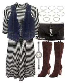 """""""Untitled #254"""" by foreverdreamt ❤ liked on Polyvore featuring Forever 21, Bogner, Yves Saint Laurent, Charles by Charles David and GUESS"""