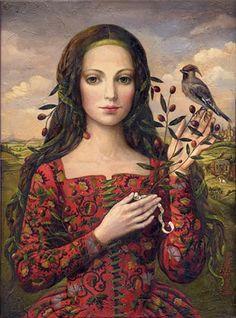 """Victoria Francisco, """"A girl with bird"""""""
