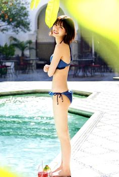 """Deep Blue Bikini with Nanasemaru 😇💕 "" Beautiful Japanese Girl, Japanese Beauty, Beautiful Asian Girls, Asian Beauty, Japan Design, Petty Girl, Slender Girl, Chica Fantasy, Asian Hotties"