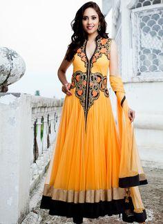 Yellow Floor Length Anarkali Suit